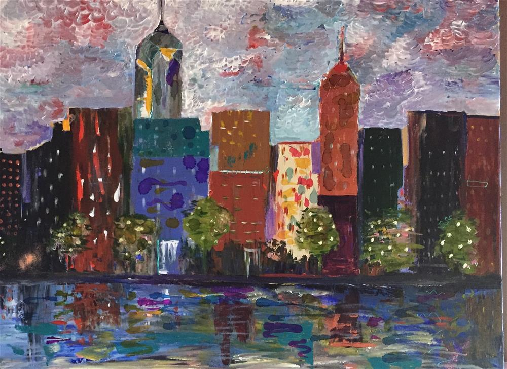 """New York, New York"" original fine art by Yvonne Snead"