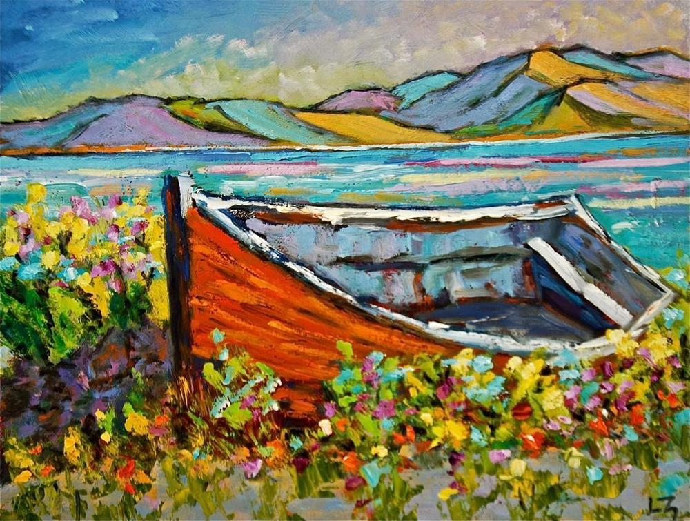 """Irish Rowboat"" original fine art by Liz Zornes"