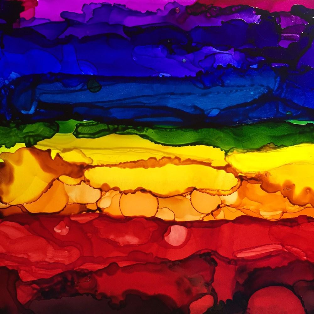 """""""Rainbow 3"""" original fine art by Elizabeth Dawn Johnston"""