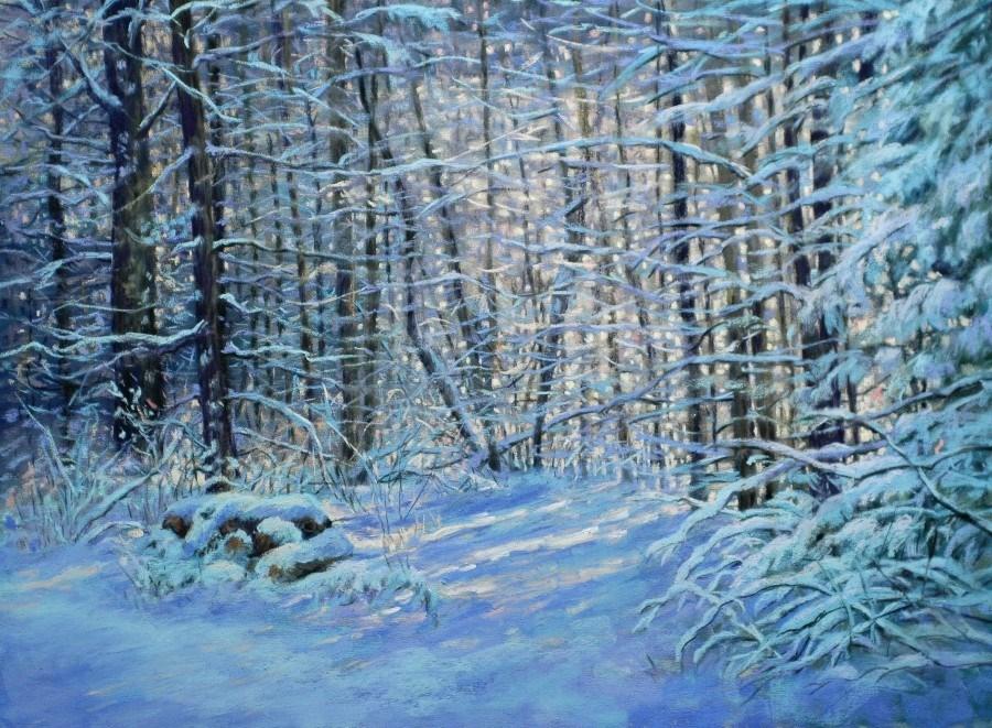 """January Morning"" original fine art by Susan Klabak"