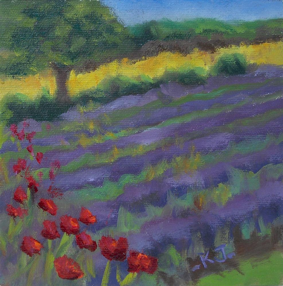 """Melody in Purple"" original fine art by Kathy Johnson"