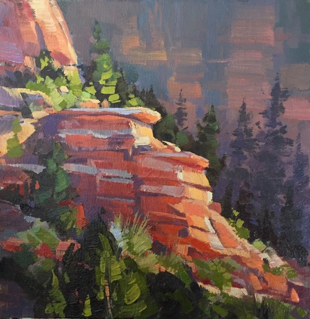 """Ledges - Kolob Canyons"" original fine art by Mary Jabens"