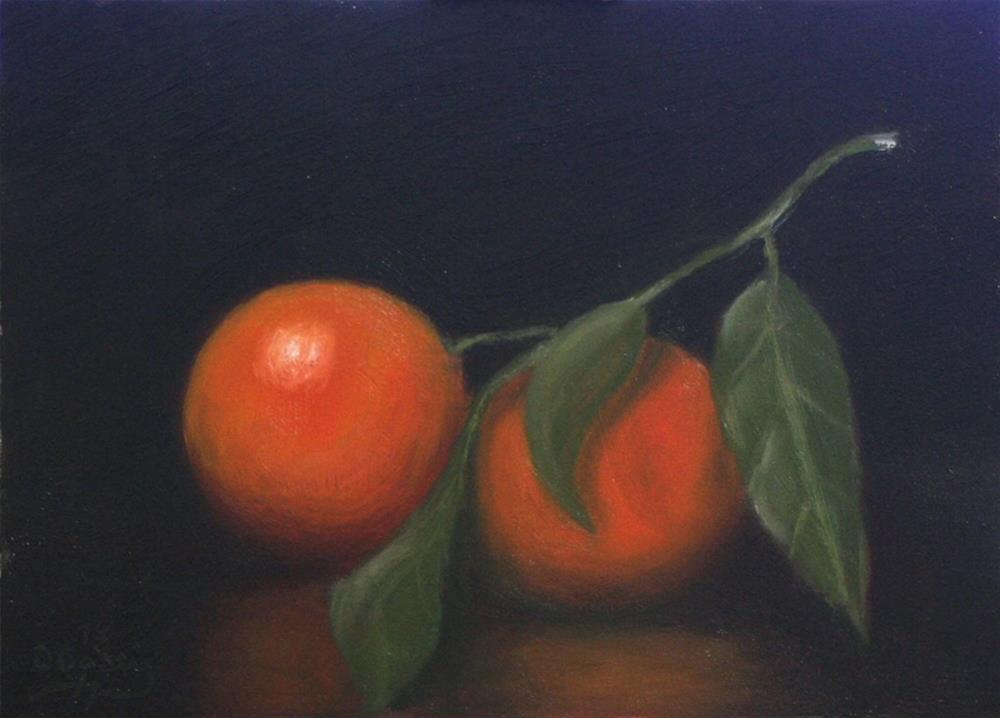 """""""30-in-30 Challenge – Day 08 – Tangerines in the Dark"""" original fine art by Dave Casey"""