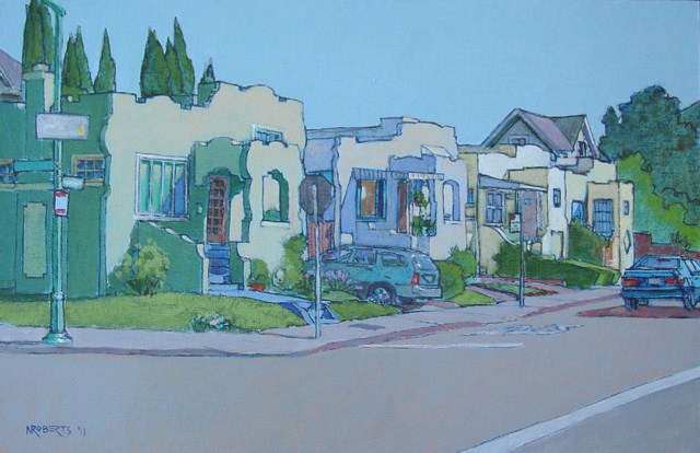 """Walnut and Buena Vista, Alameda"" original fine art by Nancy Roberts"