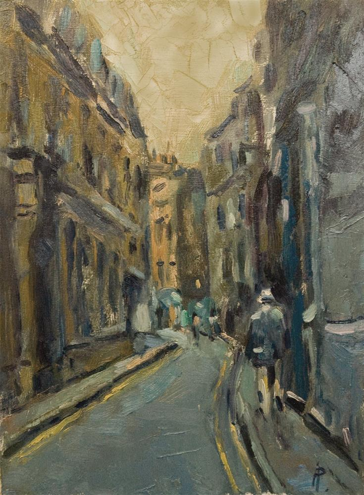"""Street off Piccadilly"" original fine art by Andre Pallat"