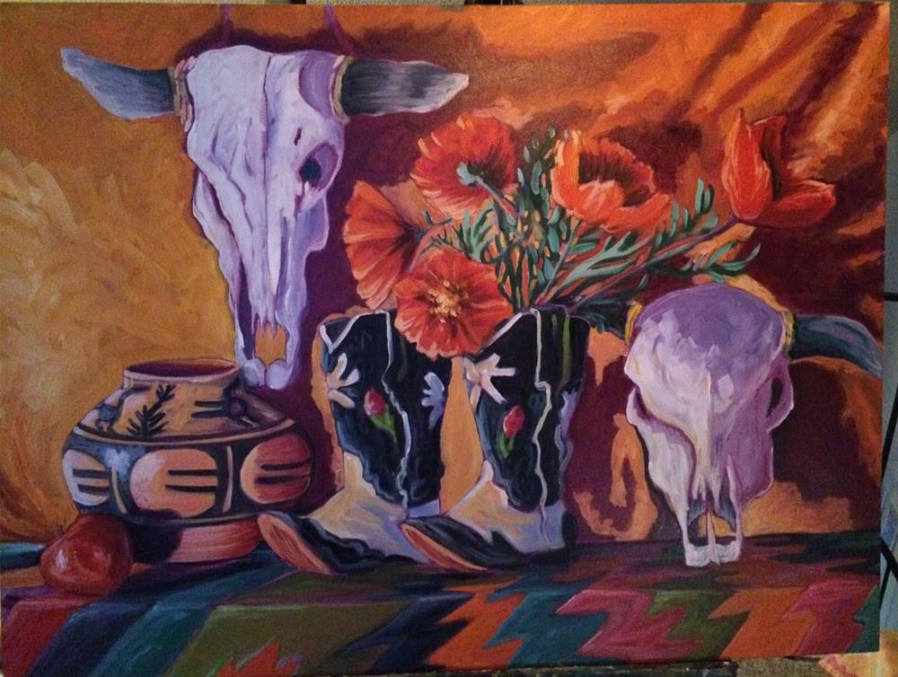 """Those Boots"" original fine art by Robyn Wellman"