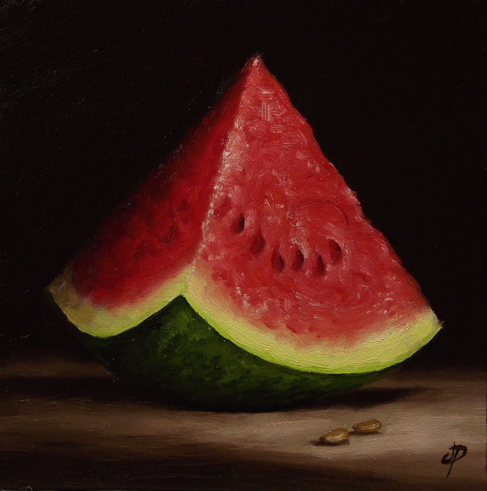 """Large Watermelon"" original fine art by Jane Palmer"