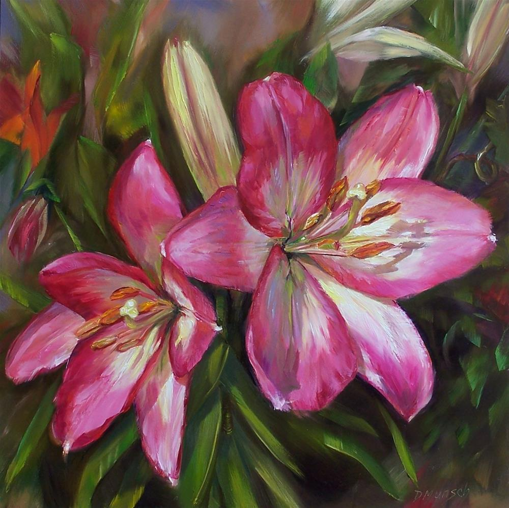 """Intense Pink"" original fine art by Donna Munsch"