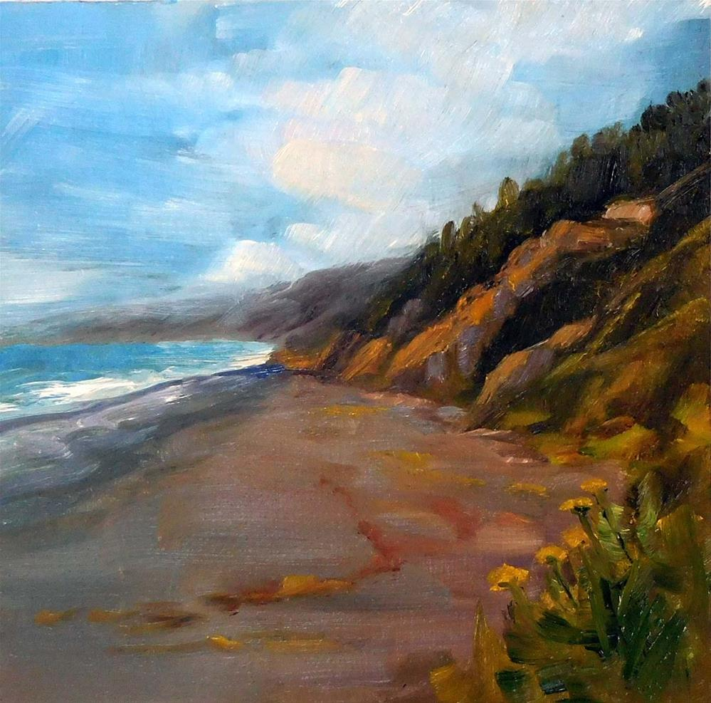 """Black Sands Beach, North View"" original fine art by Cietha Wilson"