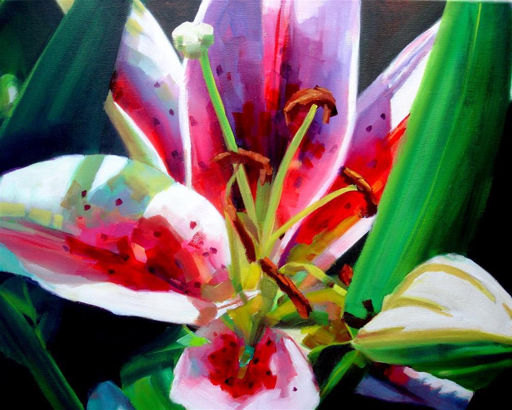 """Amy's Daylily"" original fine art by Joan Carroll"