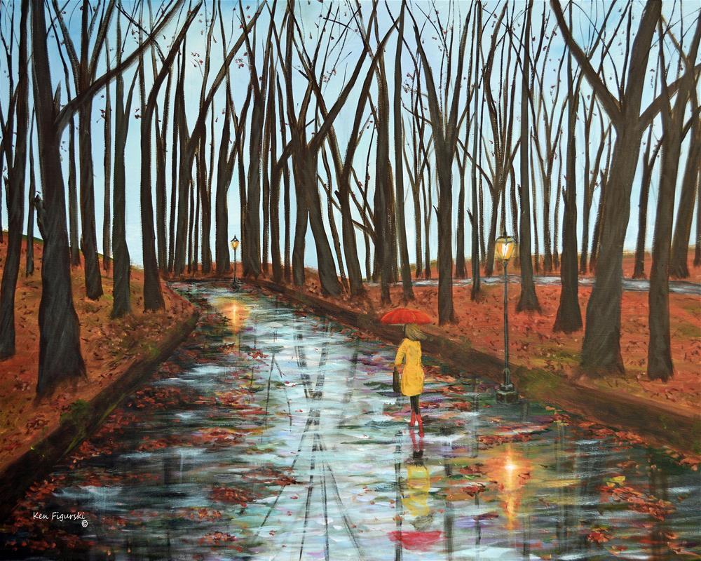"""End Of Autumn"" original fine art by Ken Figurski"