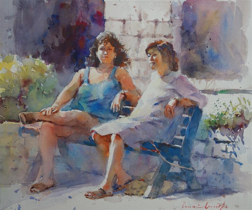 """Italian Chatter"" original fine art by Lorraine Lewitzka"