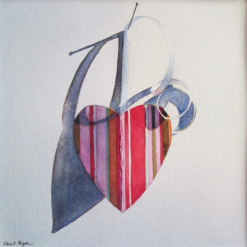 """Paper Heart No. 2"" original fine art by Kara K. Bigda"