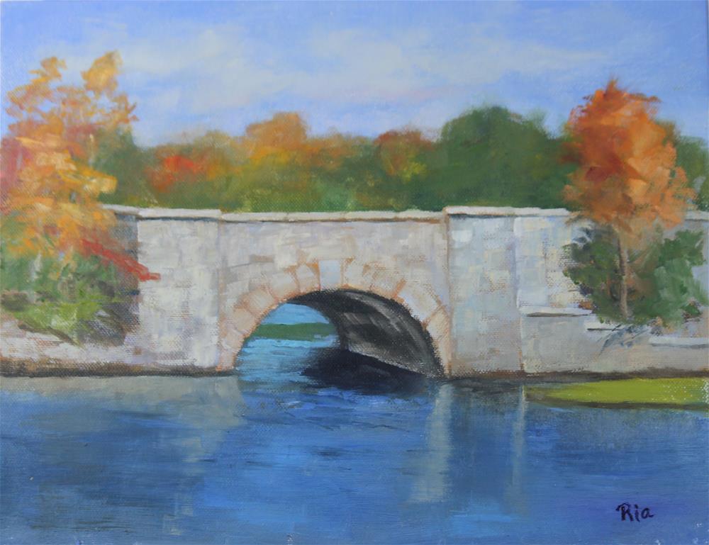 """Stone Bridge"" original fine art by Maria Reed"