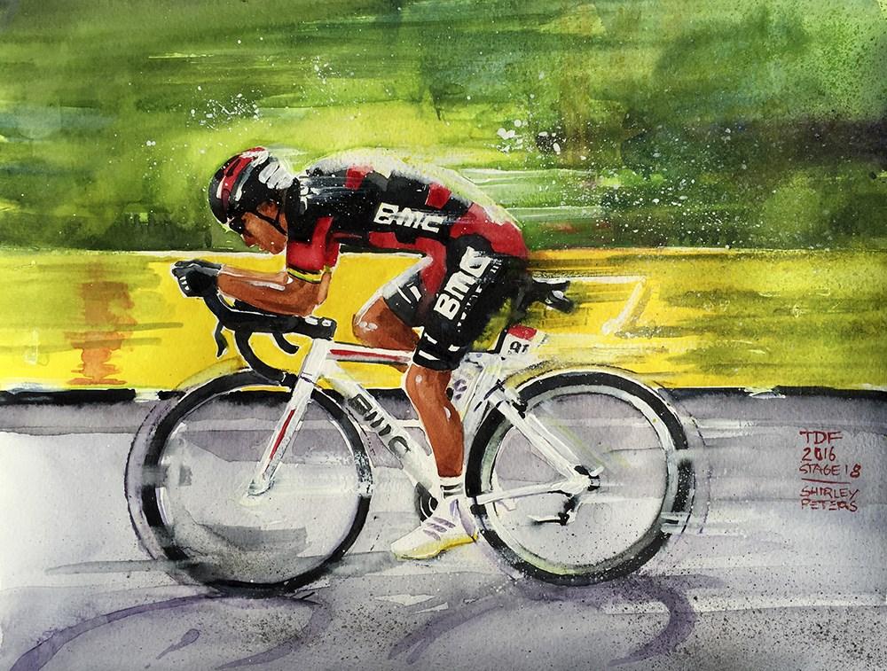 """""""Le Tour de France Paintings"""" original fine art by Shirley Peters"""