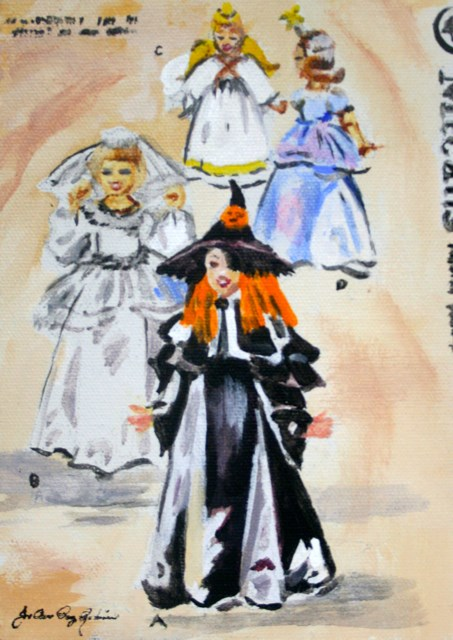 """Witch, Princess, Angel, Bride"" original fine art by JoAnne Perez Robinson"