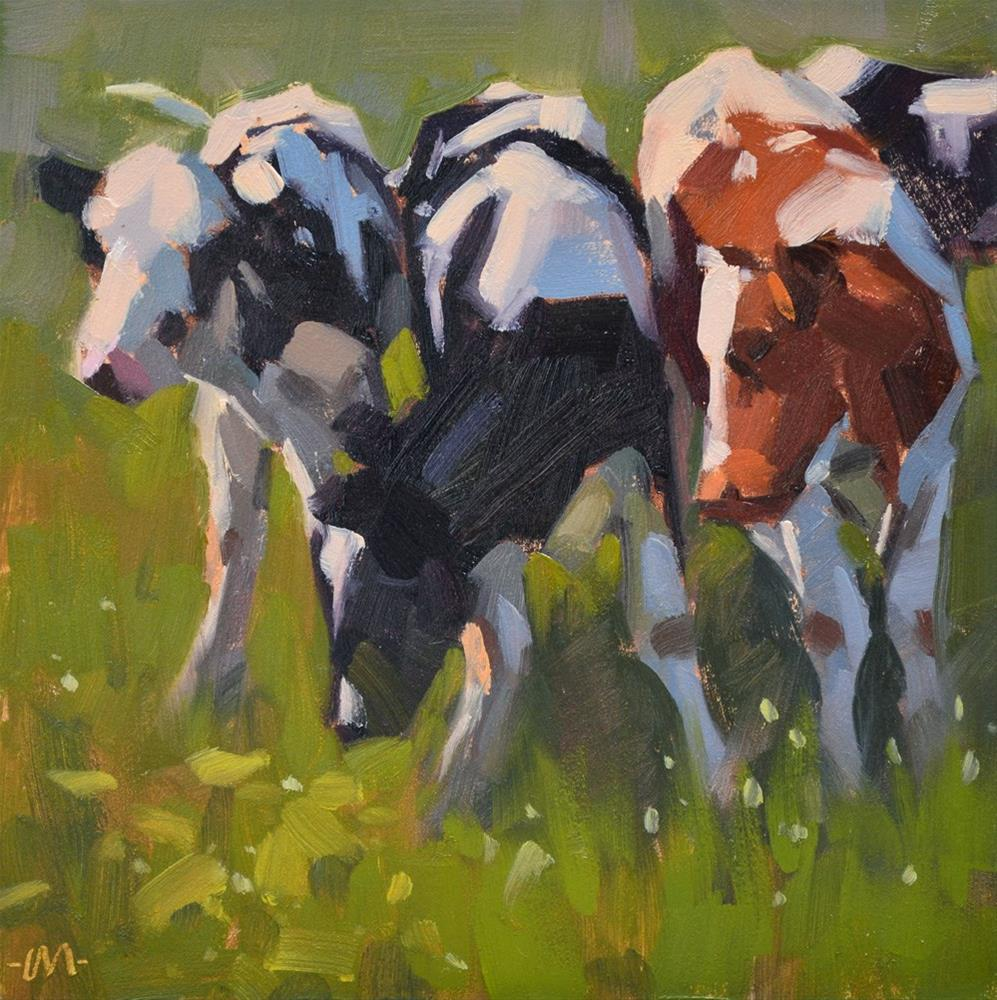 """Curious Cows"" original fine art by Carol Marine"