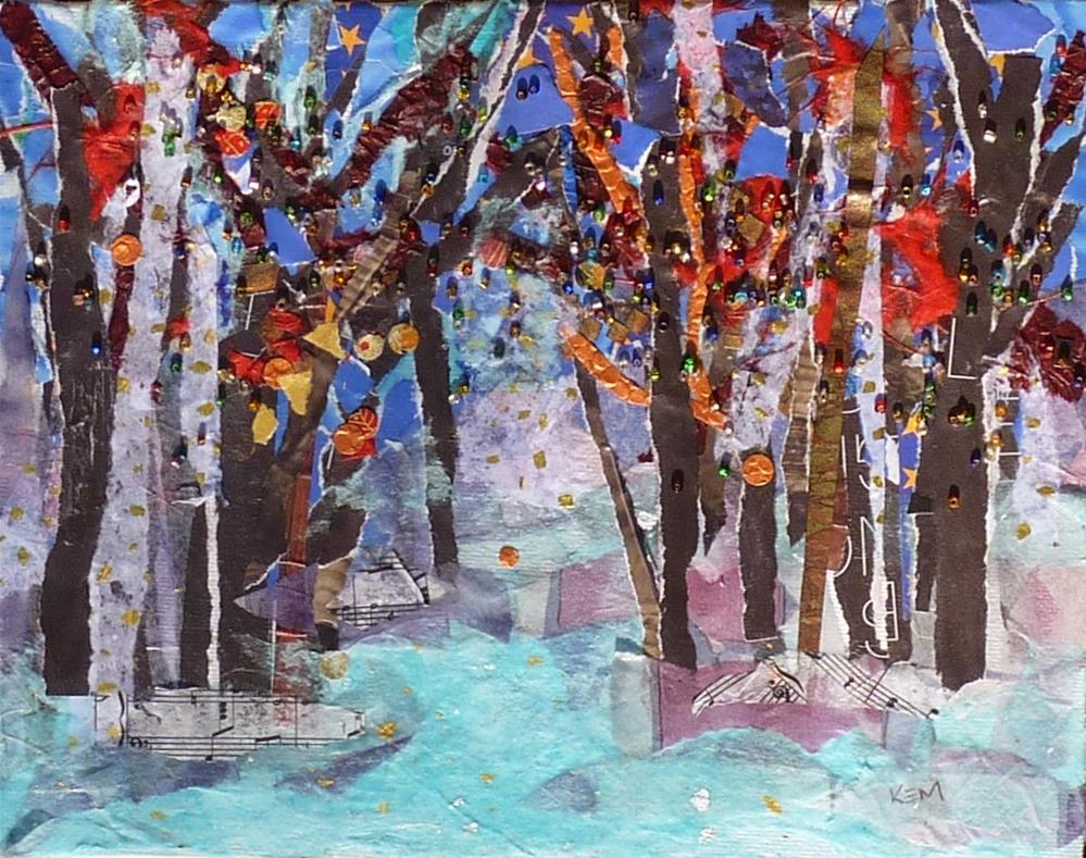 """Taking a Collage Break...Inspired by Torn Paper"" original fine art by Karen Margulis"