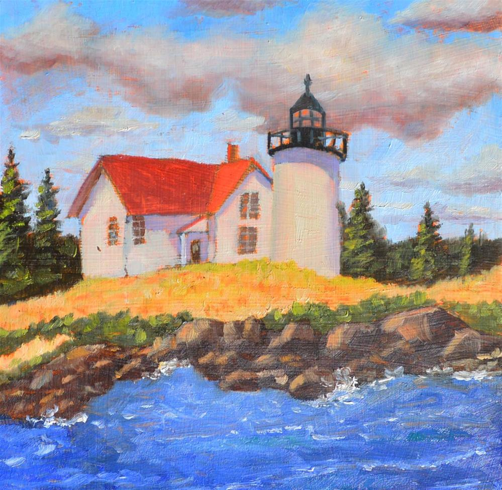 """Curtis Island Light"" original fine art by Robert Frankis"