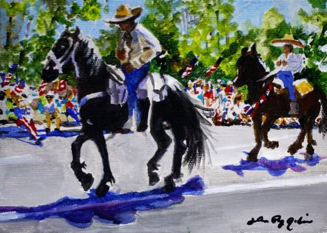 """Show Offs"" original fine art by JoAnne Perez Robinson"