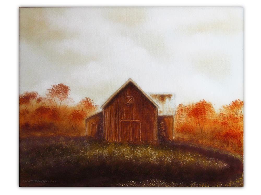 """""""Barn Study v1"""" original fine art by Mary Sylvia Hines"""