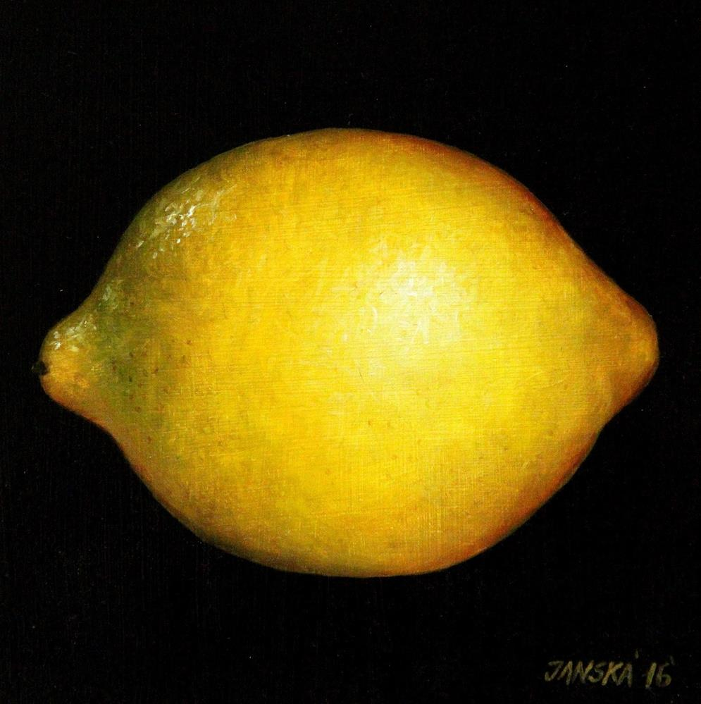 """Lemon original oil painting"" original fine art by Bozena Janska"