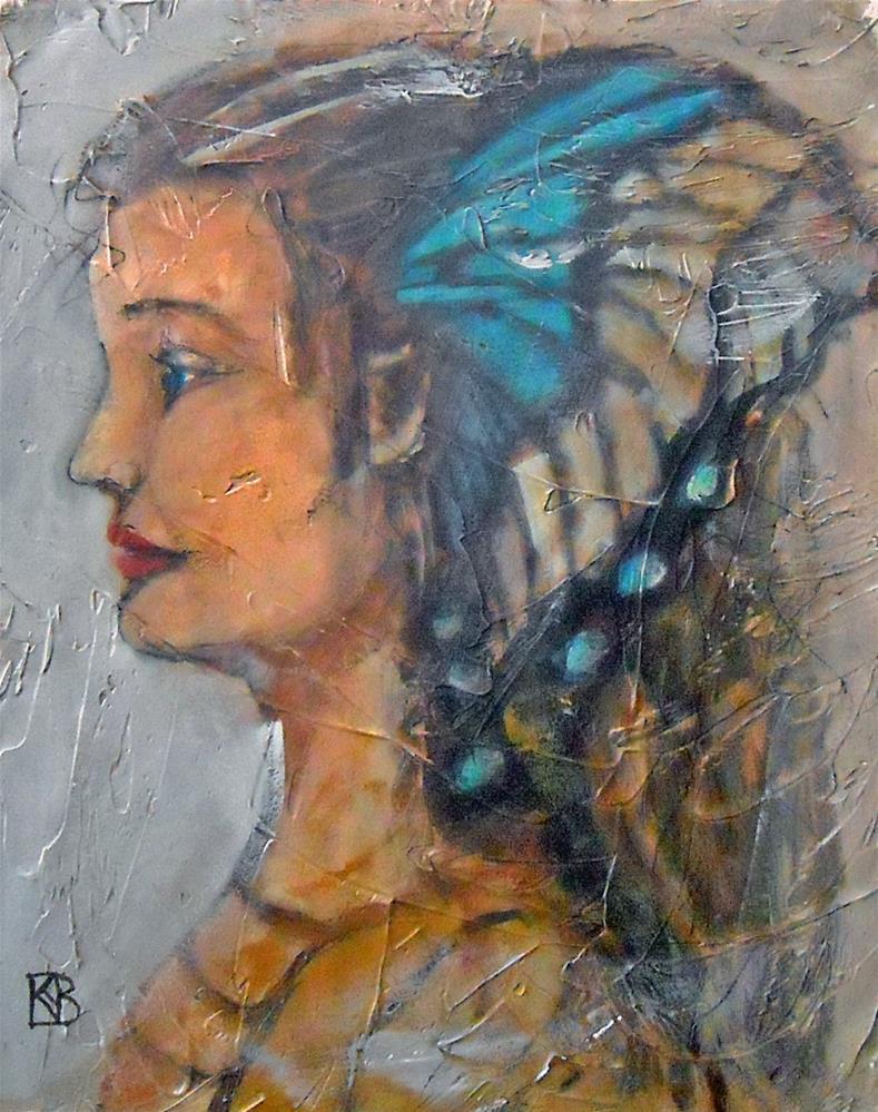 """Tudor Butterfly"" original fine art by Kathleen Barnes"