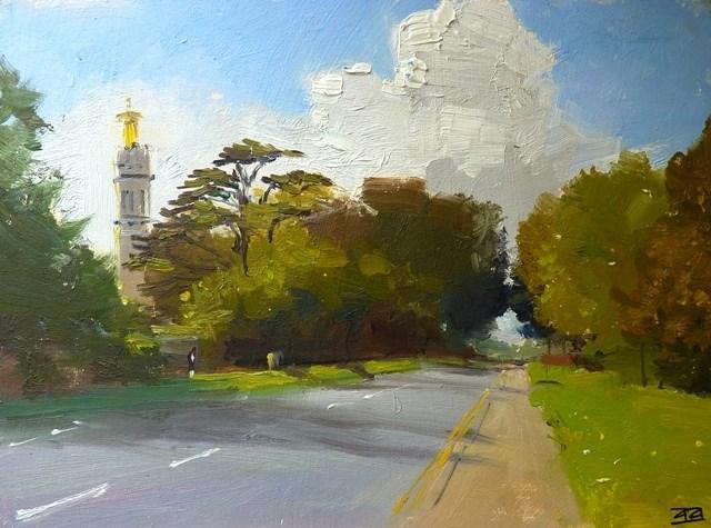 """""""Beckford's Tower, The City of Bath"""" original fine art by Adebanji Alade"""