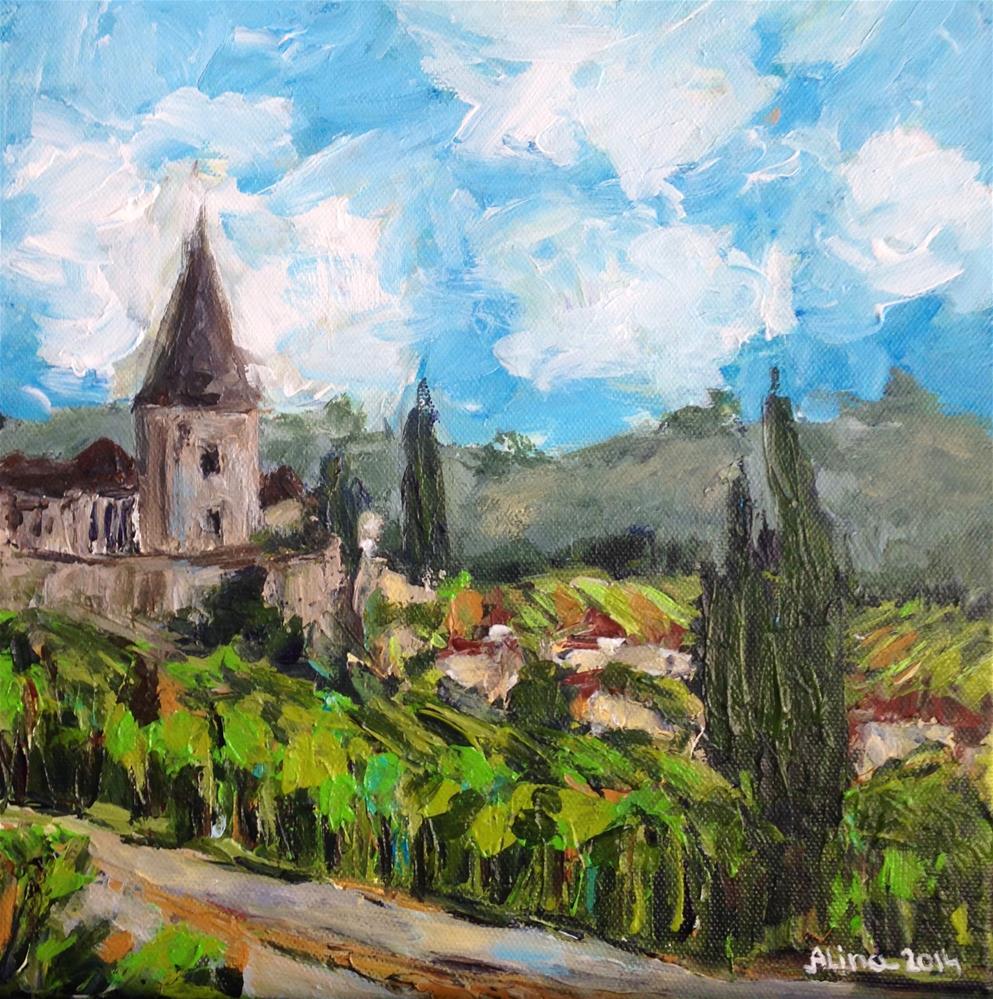 """""""Alsace Landscape"""" original fine art by Alina Vidulescu"""