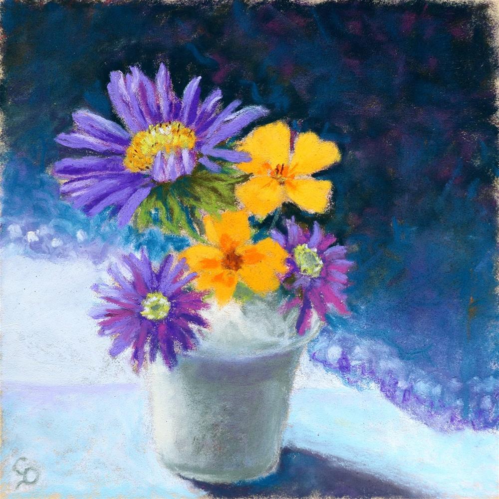 """Little Posy"" original fine art by Christine Derrick"