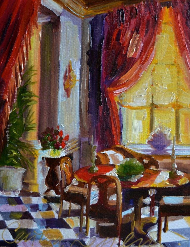 """""""CHATEAU GABRIEL"""" original fine art by Cecilia Rosslee"""