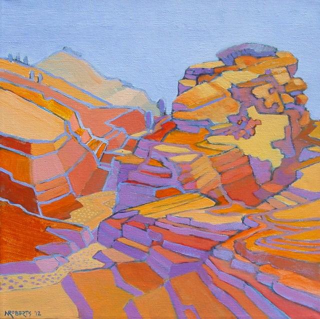 """Zion Terrain"" original fine art by Nancy Roberts"