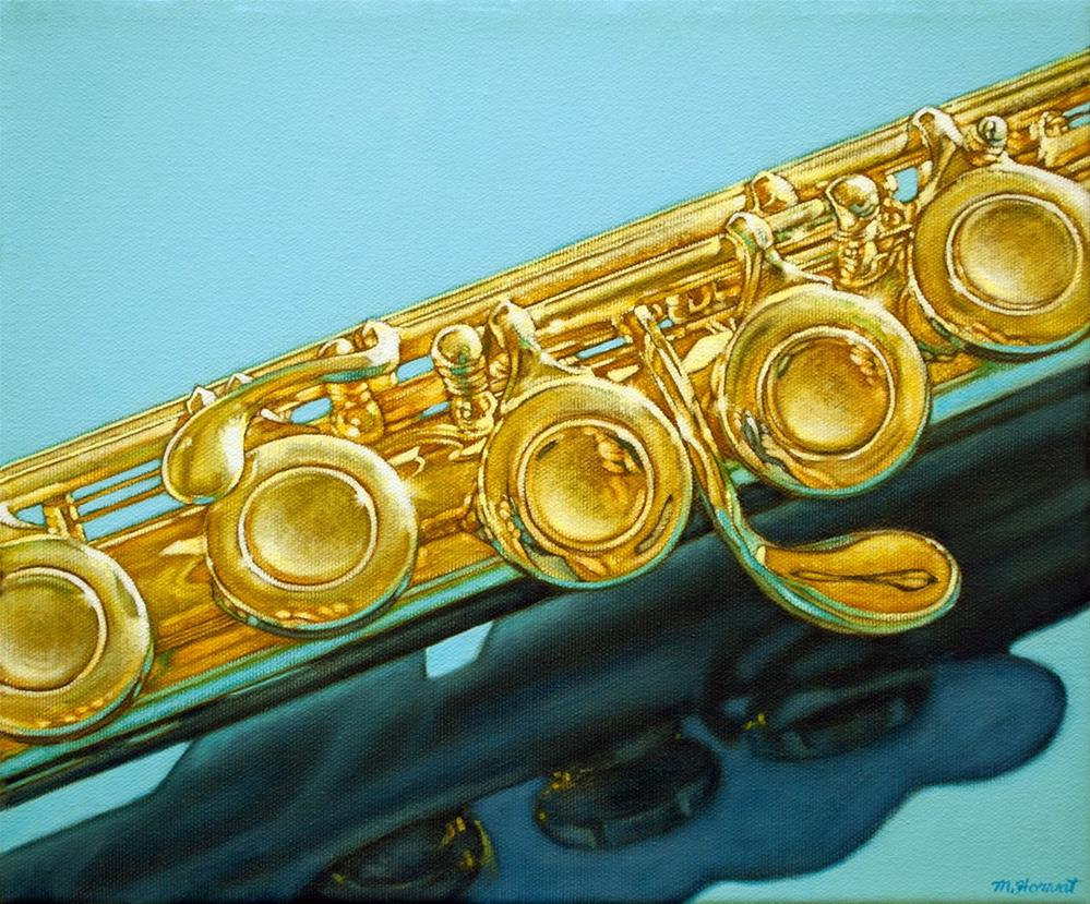 """Golden Flute"" original fine art by Margaret Horvat"