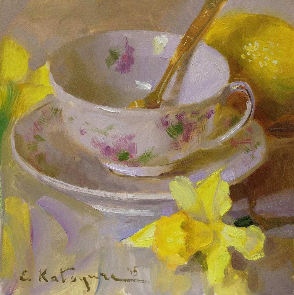 """May Yellow"" original fine art by Elena Katsyura"
