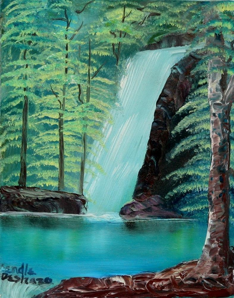"""Waterfall 2"" original fine art by Lendel Holmes"