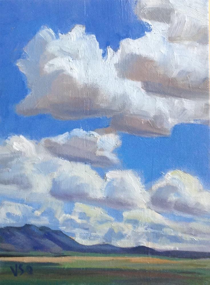 """Mostly About Clouds"" original fine art by Valerie Orlemann"
