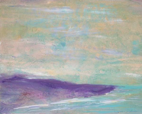 """Purple Shoreline"" original fine art by Jana Johnson"