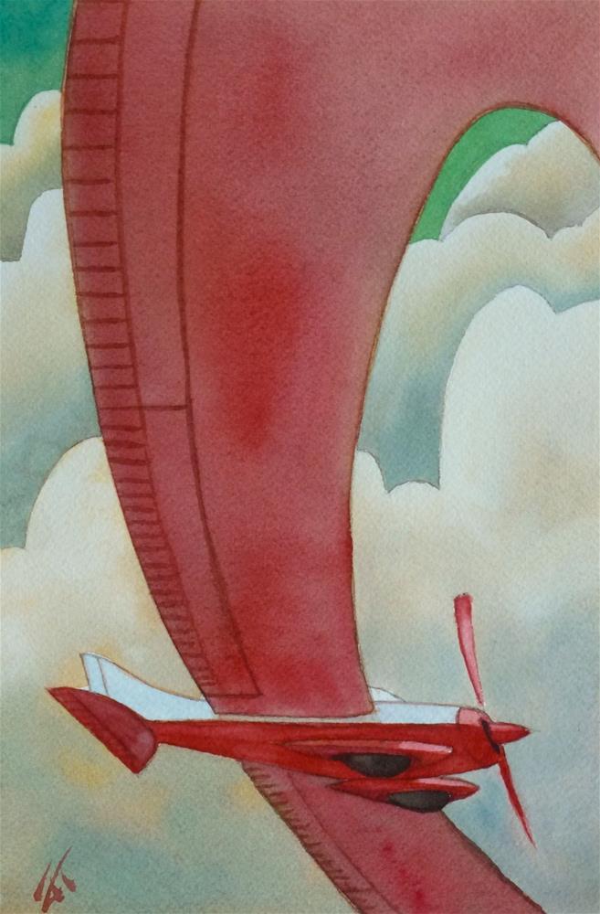 """""""Red Airplane"""" original fine art by Mark Allison"""