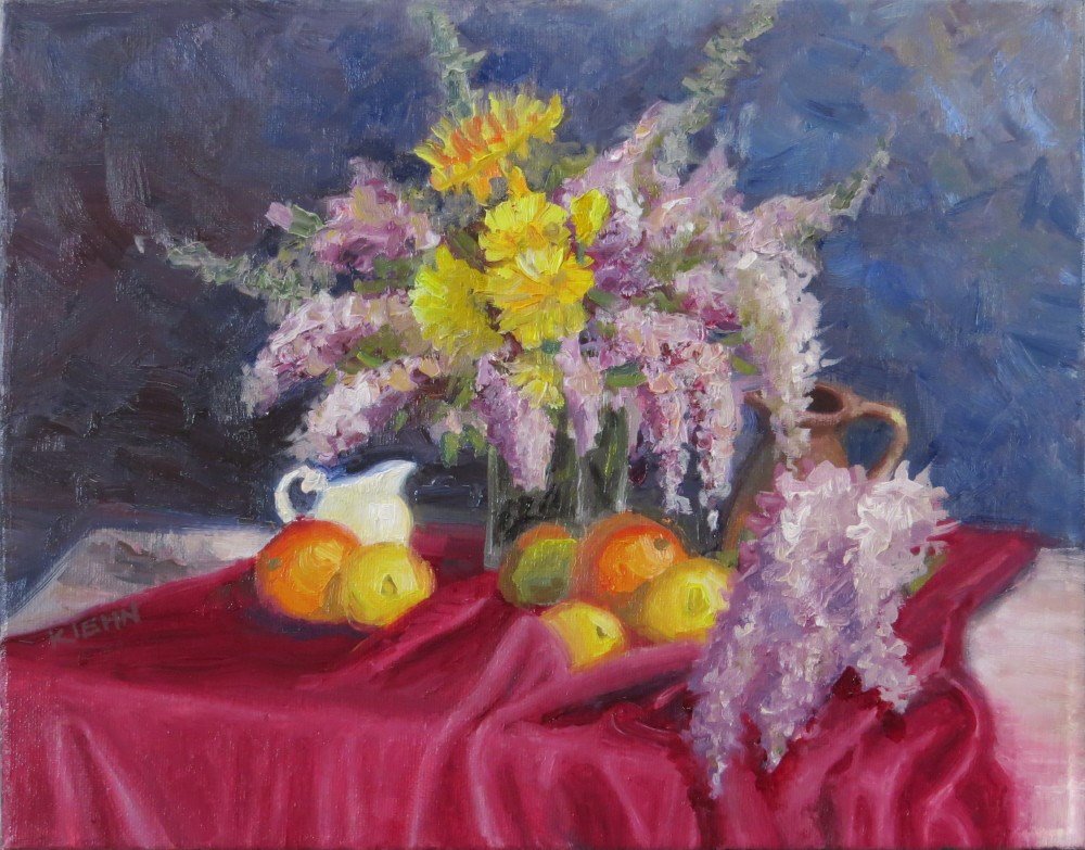 """Still Life with Lilacs"" original fine art by Richard Kiehn"
