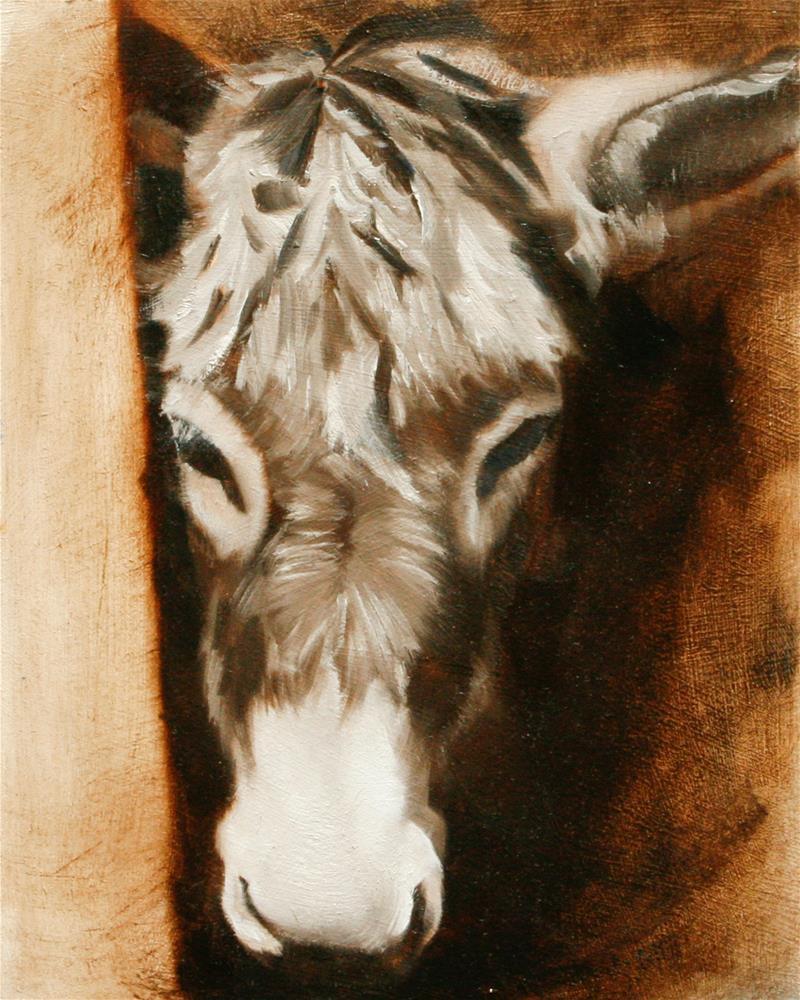 """Burro"" original fine art by Leslie Miller"