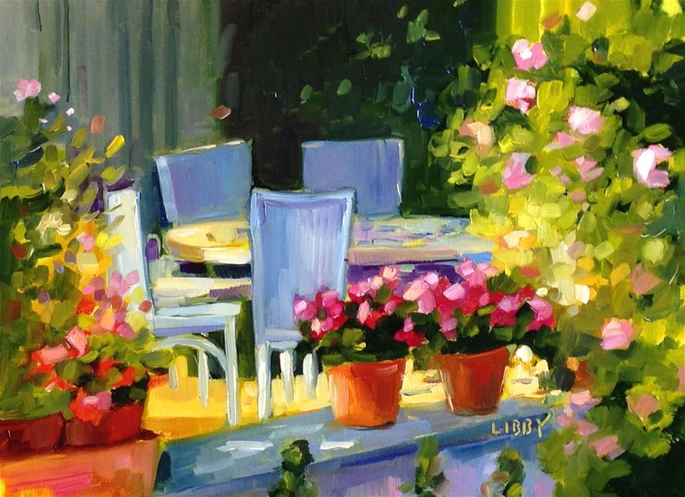 """Sunlt Veranda"" original fine art by Libby Anderson"