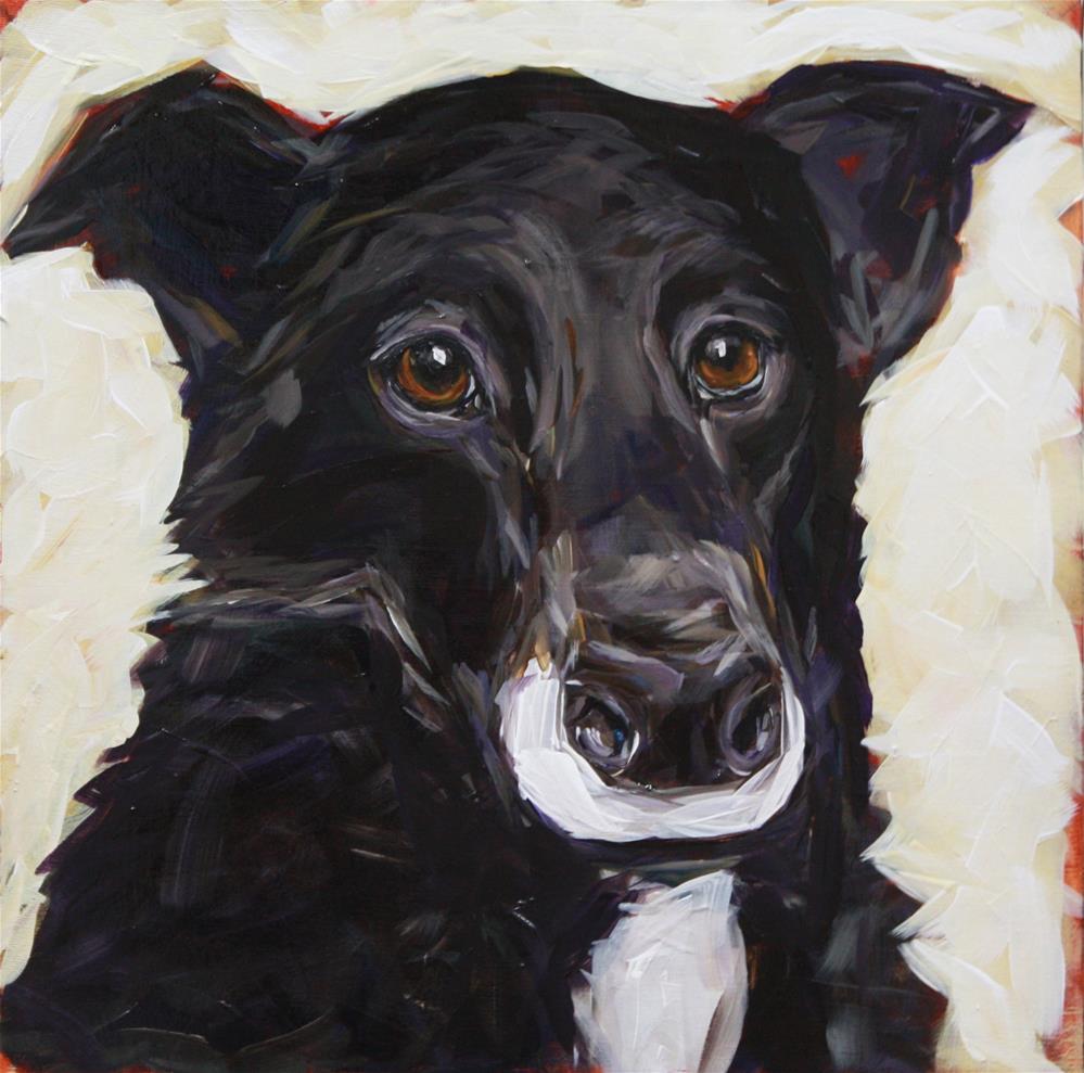 """Caddy"" original fine art by Kandice Keith"