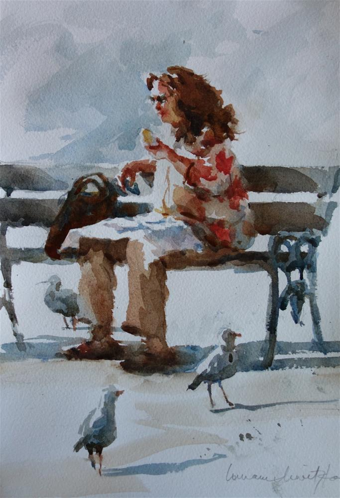 """Fish n Chips in the Park"" original fine art by Lorraine Lewitzka"