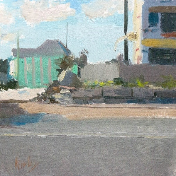 """Urban by the Sea"" original fine art by Randall Cogburn"