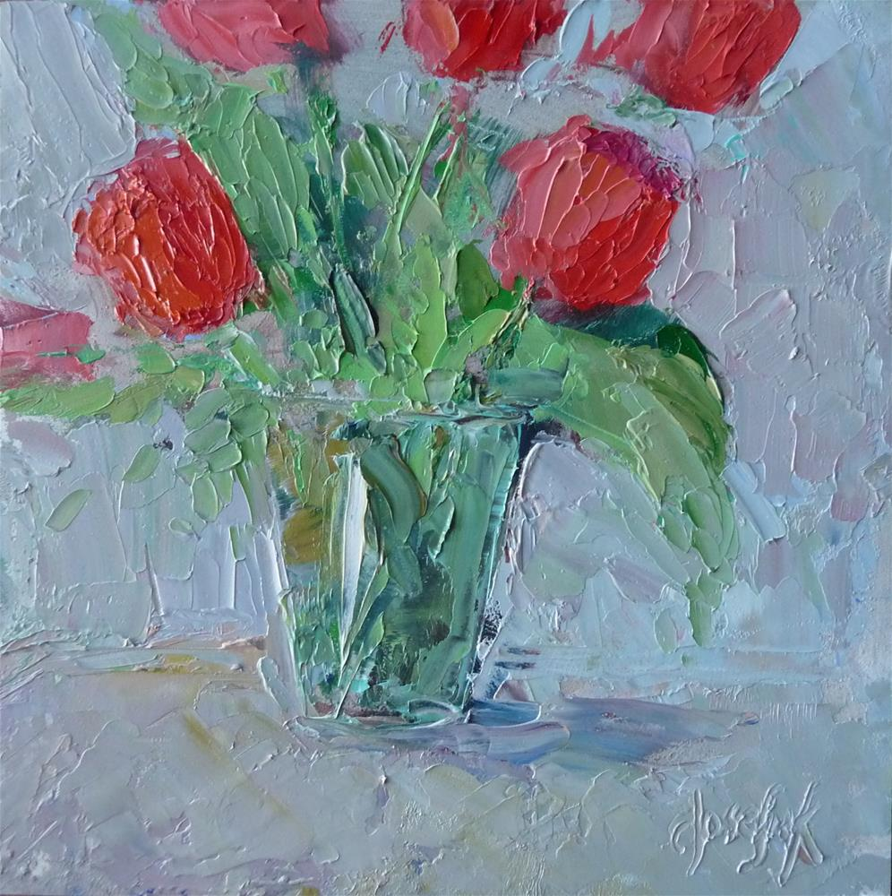 """Red"" original fine art by Carol Josefiak"