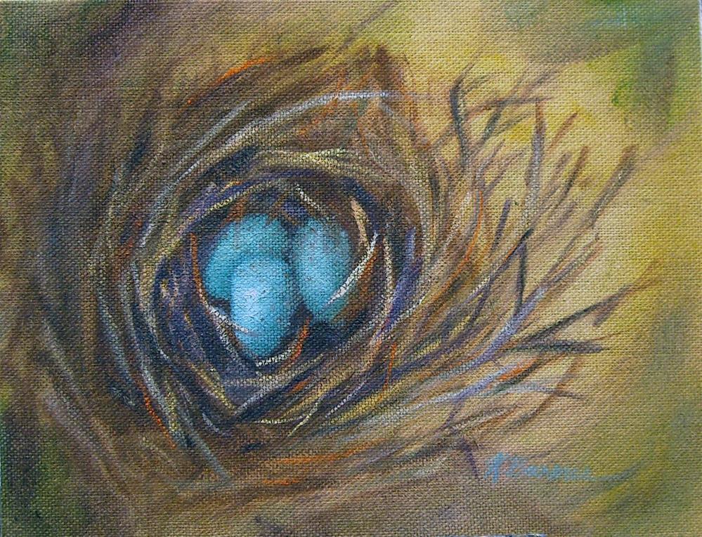 """Sweet surprise"" original fine art by Kathleen Barnes"