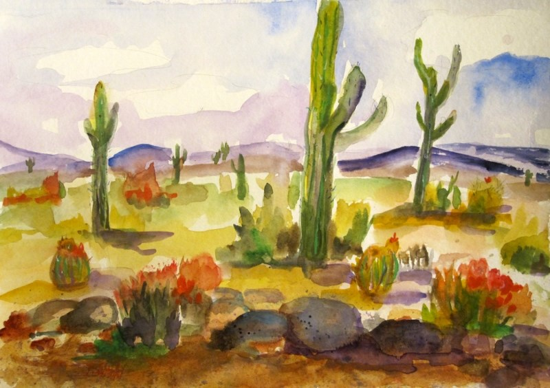 """Southwest Landscape"" original fine art by Delilah Smith"