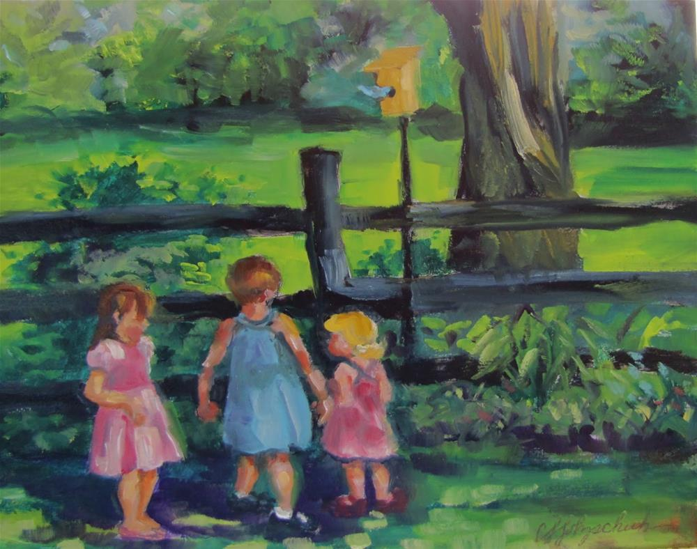 """Cousins"" original fine art by Christine Holzschuh"