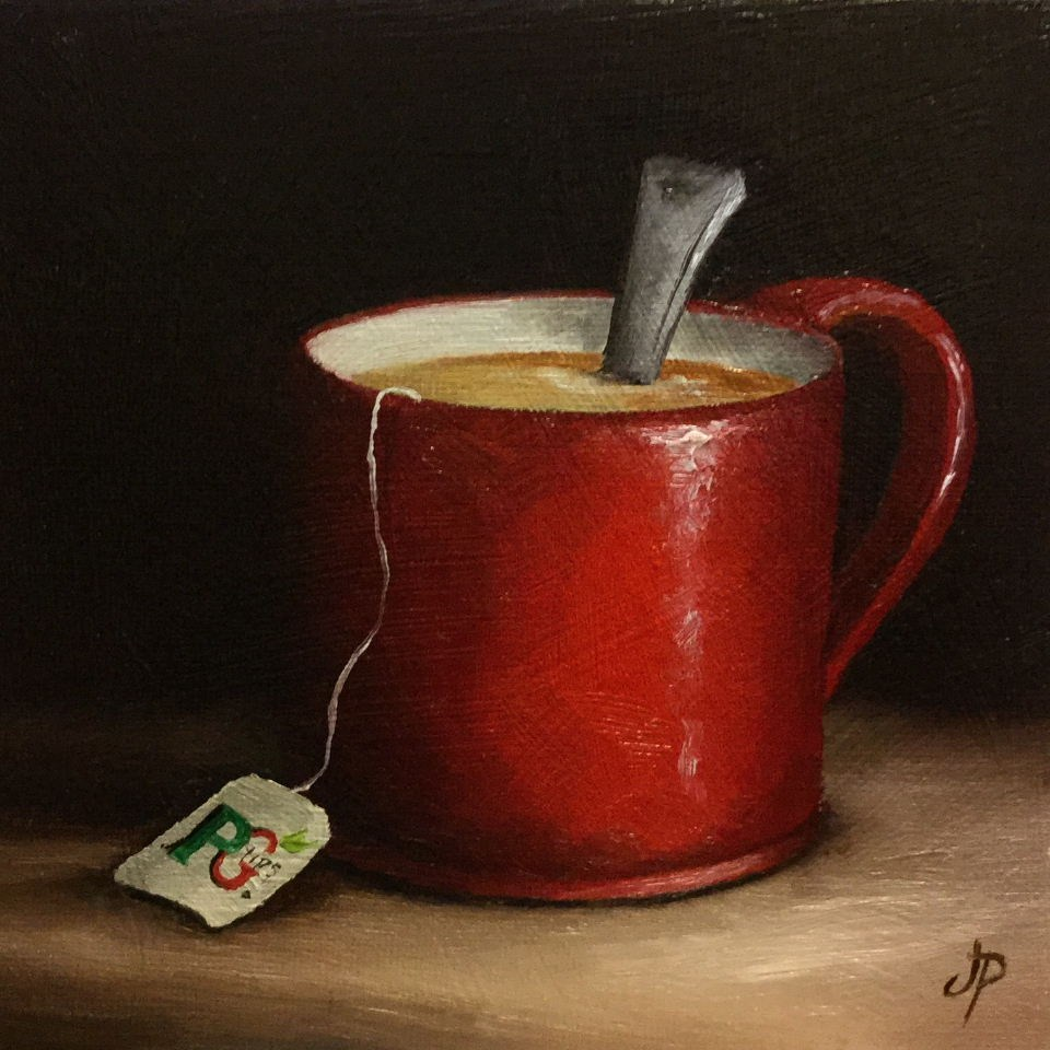 """Mug of Tea"" original fine art by Jane Palmer"