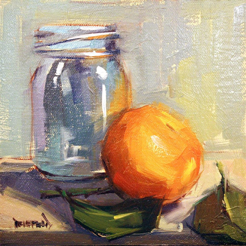 """Satsuma Reflection"" original fine art by Cathleen Rehfeld"